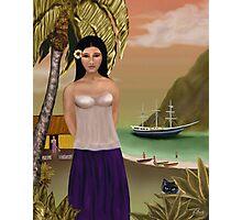 A Tahitian Beauty Photographic Print