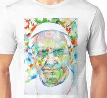 POPE FRANCIS - watercolor portrait Unisex T-Shirt