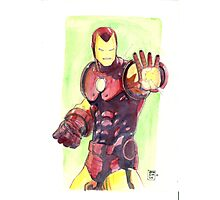 Old School Iron Man Photographic Print