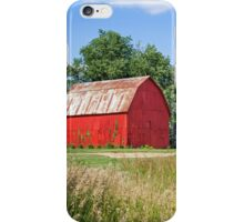 Brilliant Red Barn iPhone Case/Skin