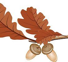 Oak leaves with acorns by AnnArtshock