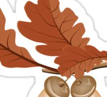 Oak leaves with acorns Sticker