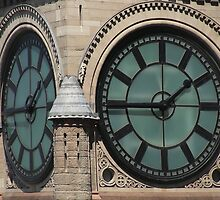 City Hall Clock by Mary  Lane