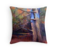 OLD NEIGHBORS ( TREE ) from original pastel painting by Madeleine Kelly Throw Pillow