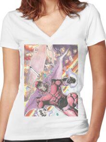 Magneto Master of Magnetism Women's Fitted V-Neck T-Shirt