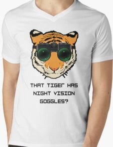 THAT TIGER HAS NIGHT VISION GOGGLES? - The Interview Mens V-Neck T-Shirt