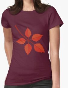 Red autumn leaves Womens Fitted T-Shirt