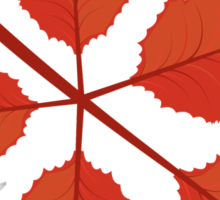 Red autumn leaves Sticker