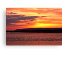 River Taw at sunset Canvas Print