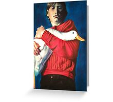 The Boy with the Bird Greeting Card