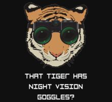 THAT TIGER HAS NIGHT VISION GOGGLES? - The Interview (Dark Background) by GordonDragons
