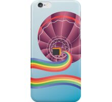 Air balloon with rainbow iPhone Case/Skin