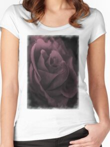 Powder Pink Rose Women's Fitted Scoop T-Shirt