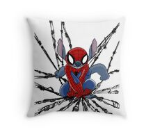 The Amazing Spider-Stitch Throw Pillow