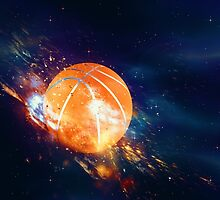 Basketball Ball Flies 2 by AnnArtshock
