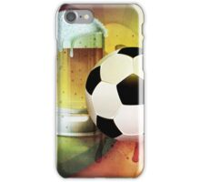 Beer Glass and Soccer Ball iPhone Case/Skin
