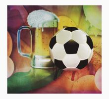 Beer Glass and Soccer Ball One Piece - Short Sleeve