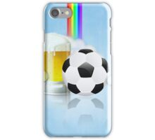 Beer Glass and Soccer Ball 2 iPhone Case/Skin
