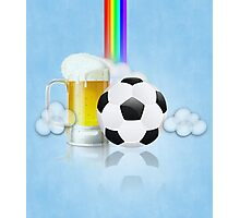 Beer Glass and Soccer Ball 2 Photographic Print