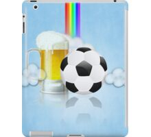 Beer Glass and Soccer Ball 2 iPad Case/Skin