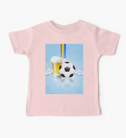 Beer Glass and Soccer Ball 2 Baby Tee