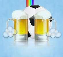 Beer Glass and Soccer Ball 3 by AnnArtshock