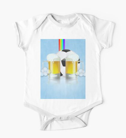 Beer Glass and Soccer Ball 3 One Piece - Short Sleeve