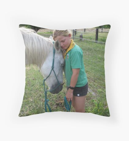 """""""Exhausted"""" Throw Pillow"""