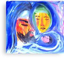 Joseph, Mary and Jesus Canvas Print