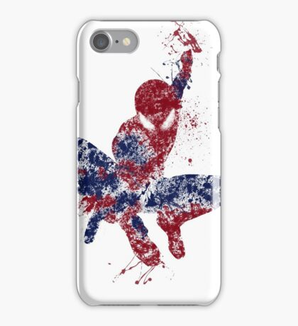 Spider-Man Splatter Art Color iPhone Case/Skin
