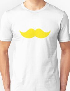 Yellow Blond Mustache Moustache T-Shirt