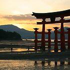 torri Gate at sunset by Gail Davison
