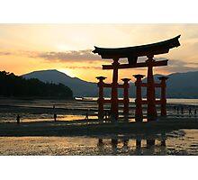 torri Gate at sunset Photographic Print