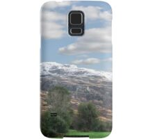 rocky mountain and fields countryside snow scene Samsung Galaxy Case/Skin