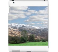 rocky mountain and fields countryside snow scene iPad Case/Skin
