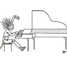 So La Mi Maestro, Concerto del piano (Ink Drawing) by mago