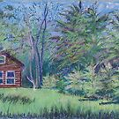 Cabin in the Woods by Carolyn Bishop