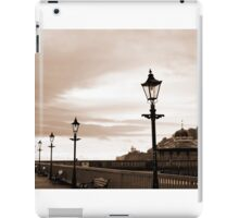 row of vintage lamps in sepia iPad Case/Skin