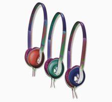 Triple Headphones Kids Tee