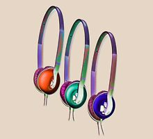 Triple Headphones Unisex T-Shirt