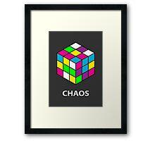Rubik's Cube Chaos Framed Print