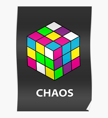 Rubik's Cube Chaos Poster
