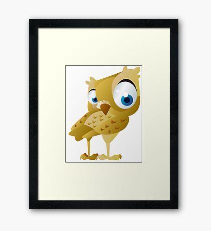 Funny owl Framed Print
