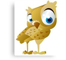 Funny owl Canvas Print