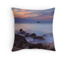 Rocco Tower Sunset Throw Pillow
