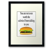 Calories Framed Print