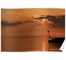 West Shore Sunset  Poster