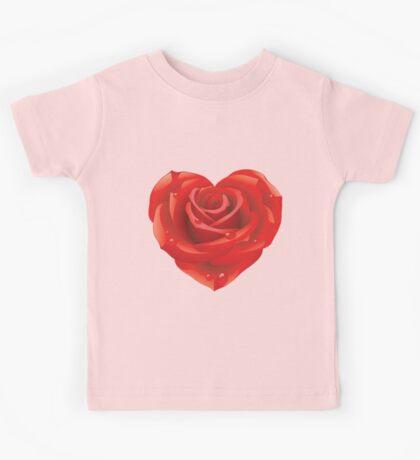 Heart - rose Kids Tee