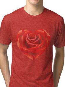 Heart - rose Tri-blend T-Shirt