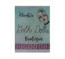 horrible goth dolls boutique Art Print